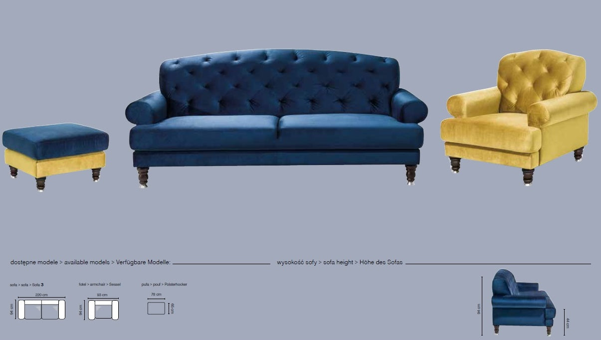Lamezi Sofa and Armchair Set