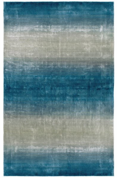 Goss Light Blue Glamour Handmade Rug