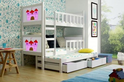 Pinki 3 bunk bed