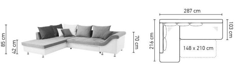 Dellia Corner Sofa Bed