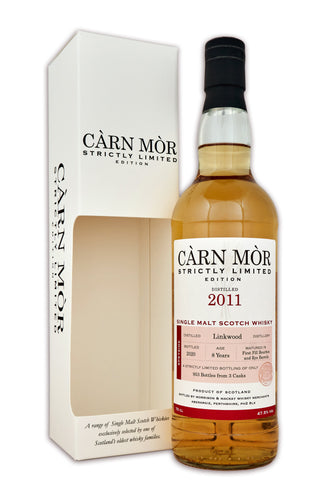 Carn Mor Strictly Limited Linkwood 2011 8 Year Old First Fill Bourbon & Rye 47.5% 70cl
