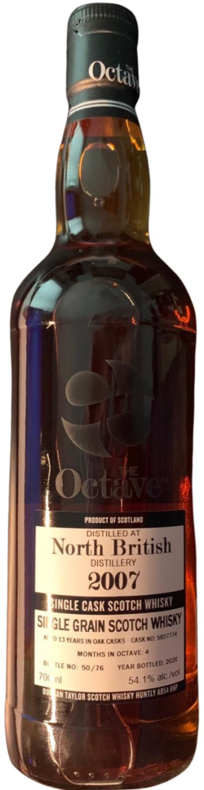 Duncan Taylor Sherry Octave, North British 2007, 13 Year Old 54.1% 70cl