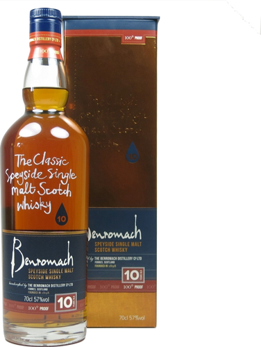 Benromach 10 Year Old 100% Proof 57% 70cl