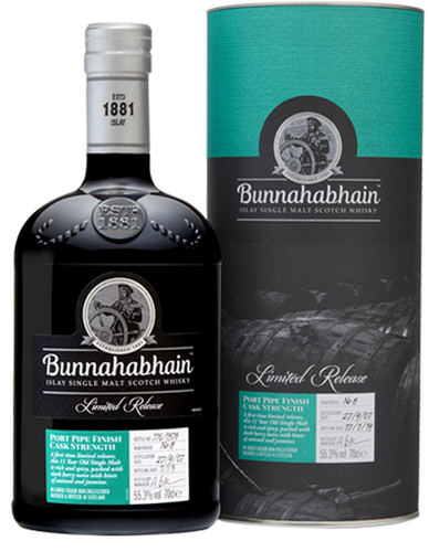 Bunnahabhain 11 Year Old 2007 Port Finish 55.3% 70cl
