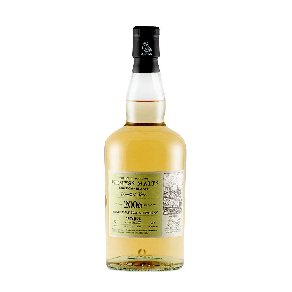 Wemyss Single Cask Release Strathmill 2006 12 Year Old Candied Nuts 46% 70cl