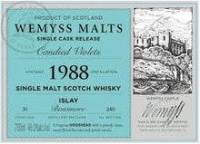 Load image into Gallery viewer, Wemyss Single Cask Release Bowmore 1988 31 Year Old Candied Violets 46% 70cl