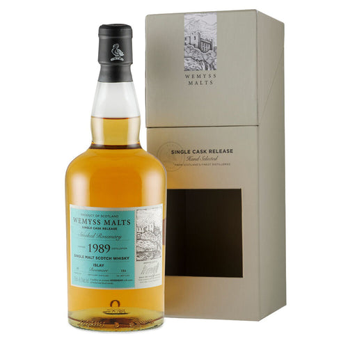 Wemyss Single Cask Release Bowmore 1989 30 Year Old Smoked Rosemary 46% 70cl