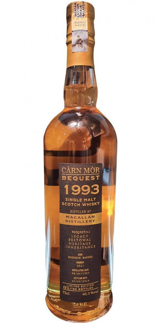 Carn Mor Bequest Macallan 1993 25 Year Old #6511 40.3% 70cl