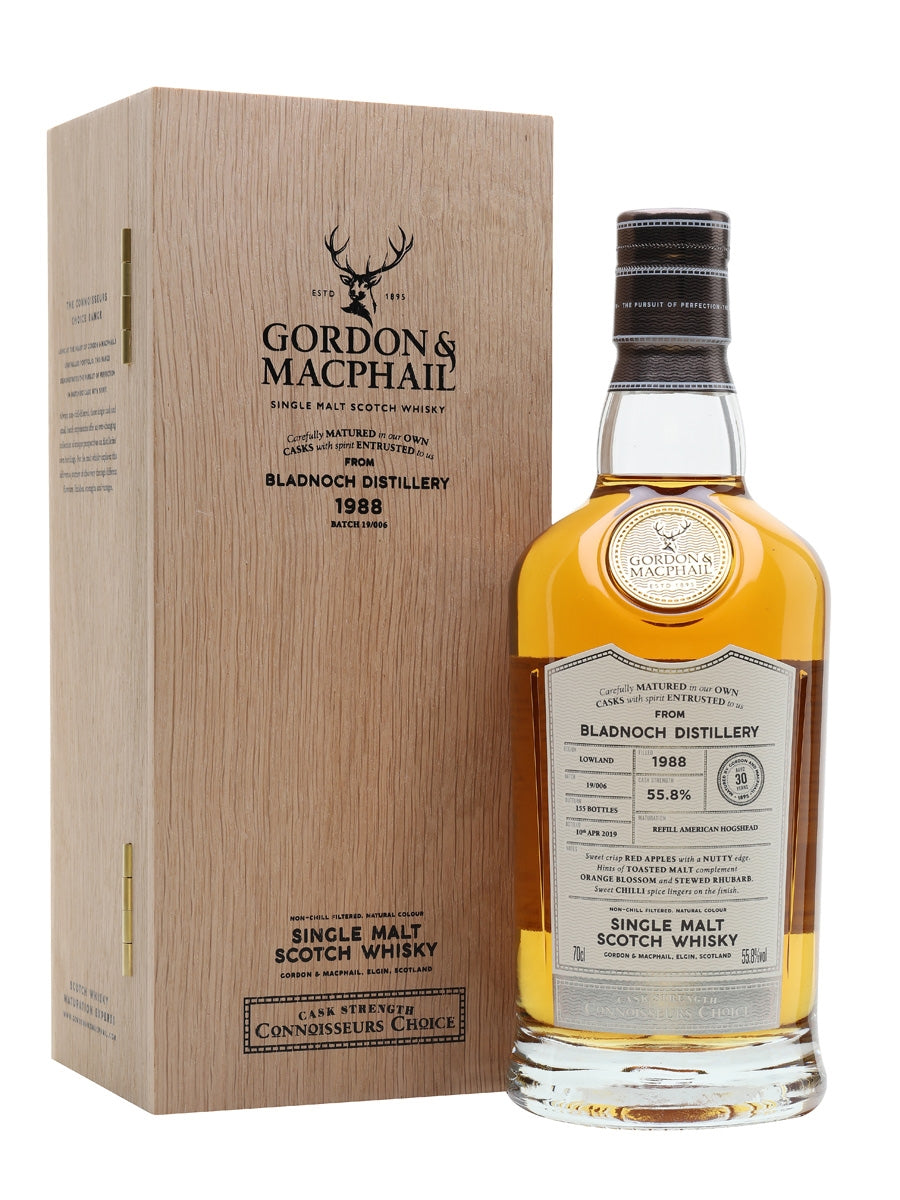 Gordon & Macphail Connoisseurs Choice Bladnoch 1988, 30 Year Old 55.8% 70cl