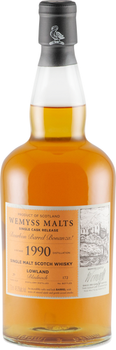 Wemyss Single Cask Release Bladnoch 1990 29 Year Old Bourbon Barrel Bonanza 46% 70cl