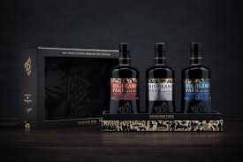 Highland Park Viking Trilogy; Valkyrie, Valknut, Valfather in Presentation Box, 45.9%/46.8%/46.8%, 3 x 70cl