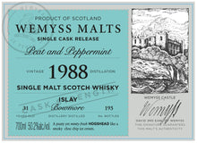 Load image into Gallery viewer, Wemyss Single Cask Release Bowmore 1988 31 Year Old Peat & Peppermint 50.2% 70cl