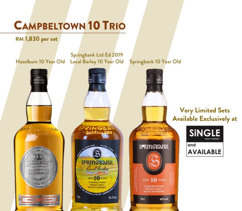 Campbeltown 10 Trio feat Springbank 10 Local Barley 2019