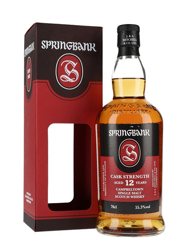 Springbank 12 Year Old Cask Strength 55.3% 70cl
