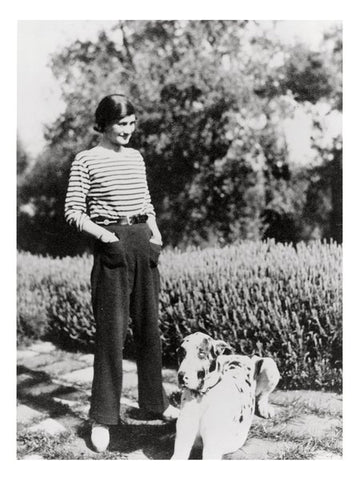 Chanel and Gigot striped breton top 1928
