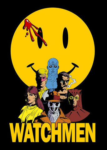 Watchmen Comic Blood-Stained Smiley Face