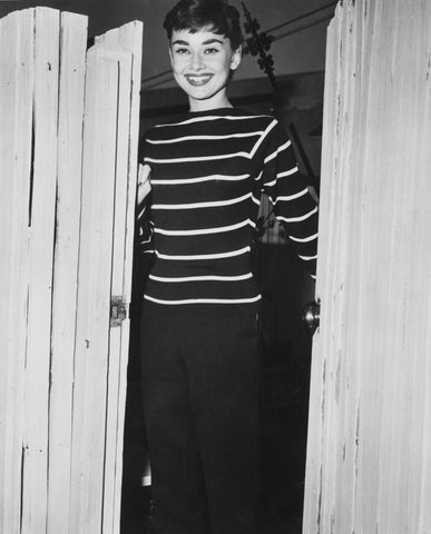 Audrey Hepburn breton striped top
