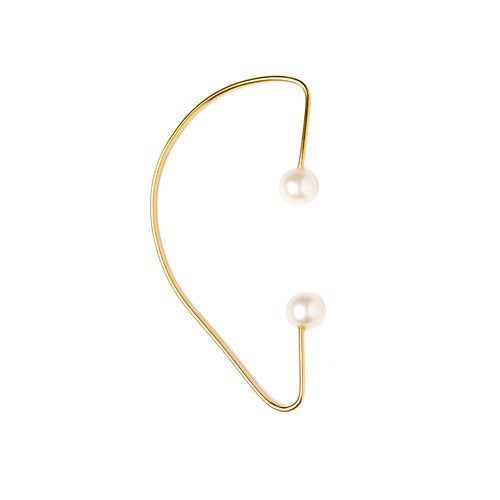 Vibe Harsloef Iris Earwrap with Pearls