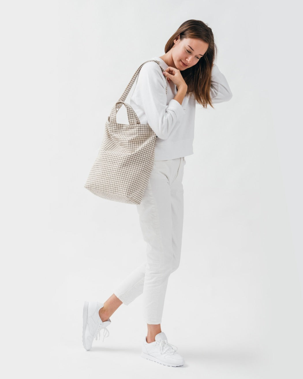 Baggu Duck Bag Check Natural Grid Utrecht