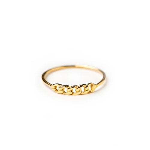 Vibe Harsloef Chainpart Phalange Ring Goldplated