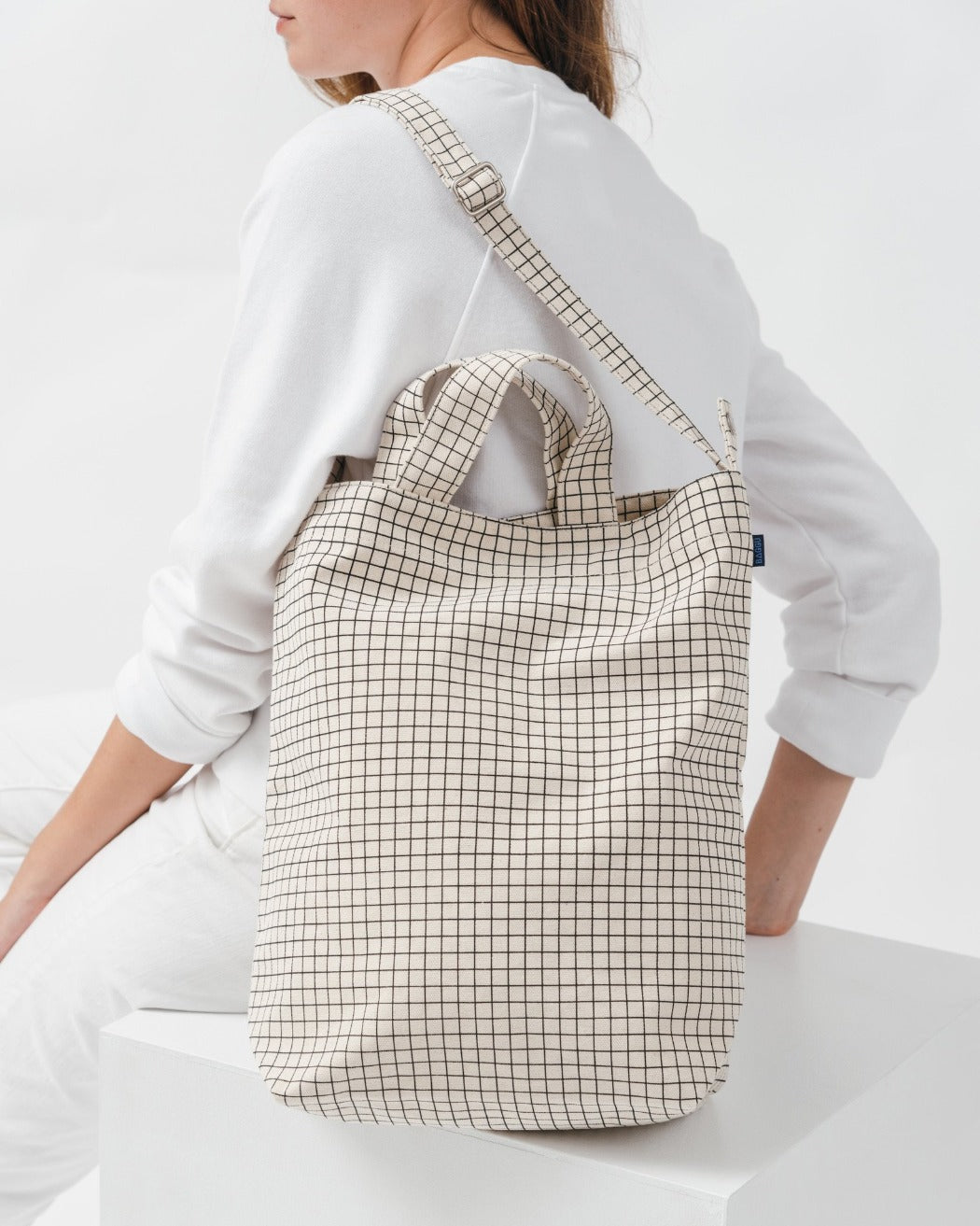 Baggu Nederland Duck Bag Natural Grid Europe