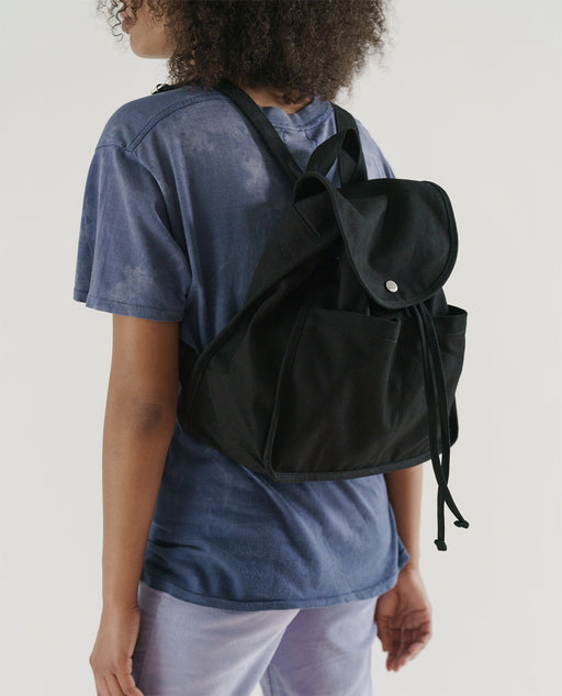 Baggu Drawstring Backpack Canvas Black Nederland Europe