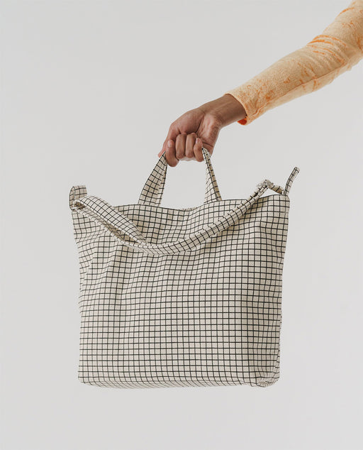 Baggu Horizontal Duck Bag Natural Grid Europe UK Nederland