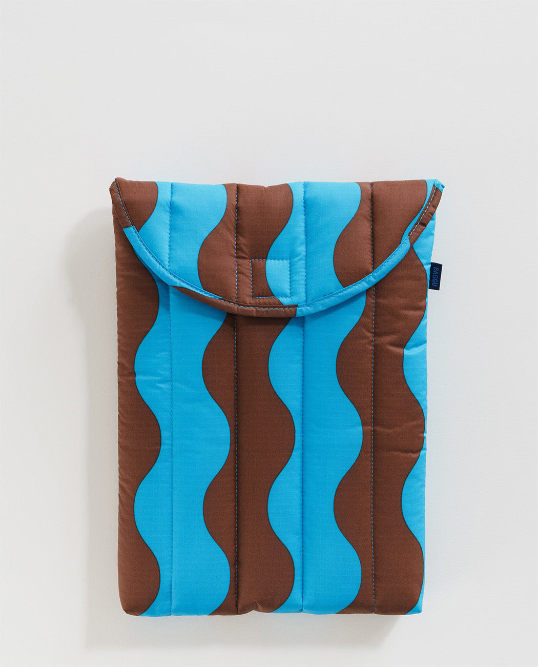 Baggu Puffy Laptop Sleeve 13 inch Teal Brown Wavy Stripe Nederland Utrecht