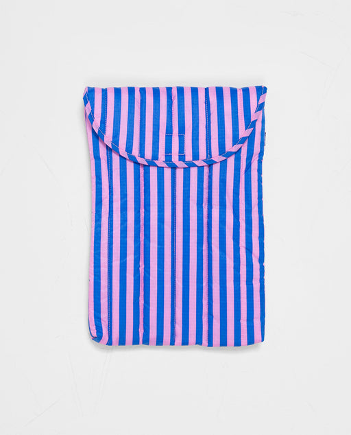 Baggu Puffy Laptop Sleeve Pink Blue Stripe 16 inch Nederland Europe UK