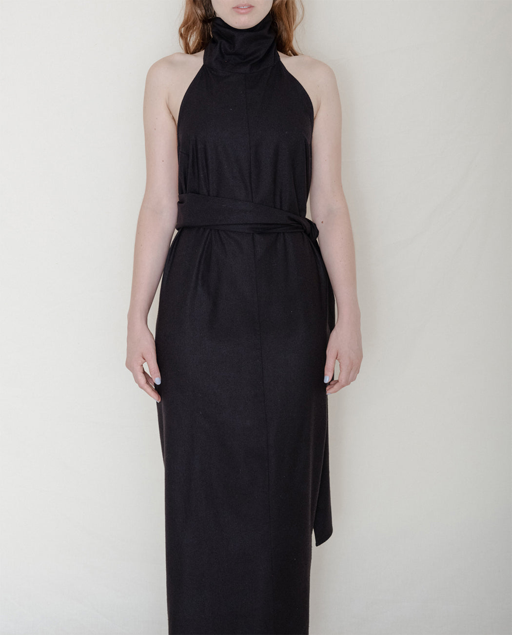 Baserange Sale Napkin Dress Raw Silk Black