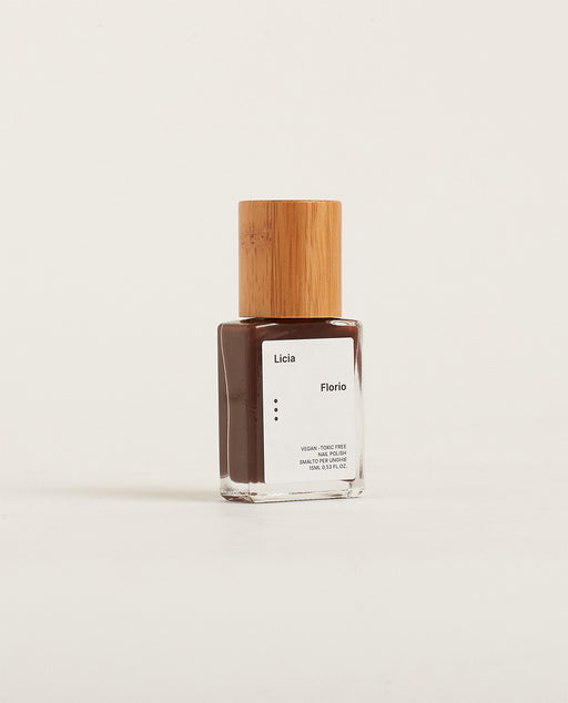 Licia Florio Vegan Nail Varnish Brown Bean