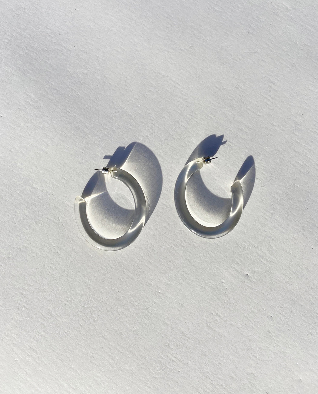 Chunky Hoops Bio-Acetate Clear