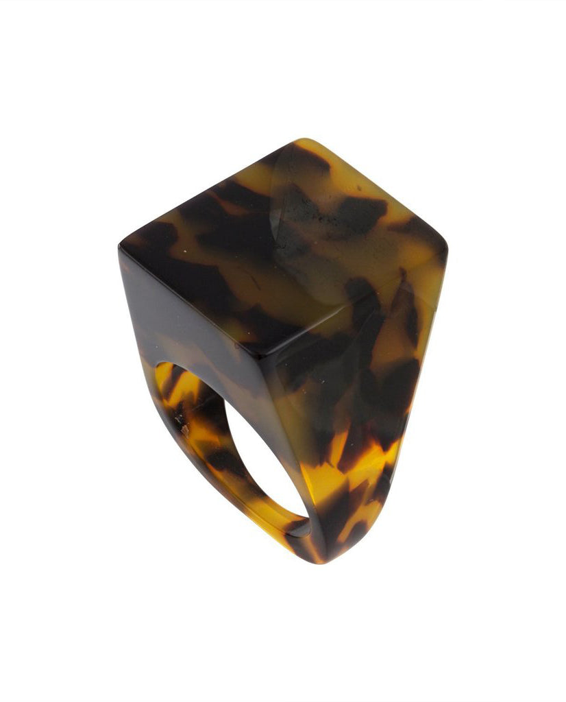 Machete Icon statement Ring Classic Tortoise Bio Acetate