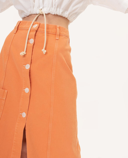 Mundaka Studio Button Down Skirt Orange Europe Nederland