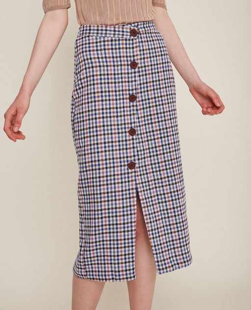 Rita Row Sale Utrecht Catta Skirt Navy checkered
