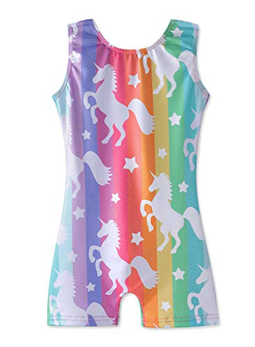 Gymnastics Leotards for Girls with Shorts Size 6-7 Years Old Sparkly Dancewear