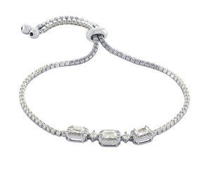 Emerald Cut Adjustable Bracelet
