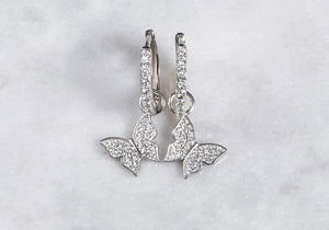 Butterfly dangle Huggies