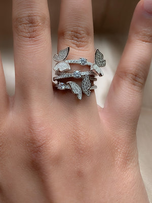 Butterfly Layer Ring