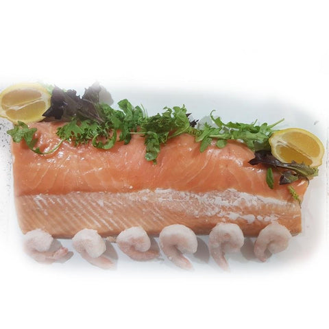 Poached and Dressed Salmon Side - Seafood Direct UK
