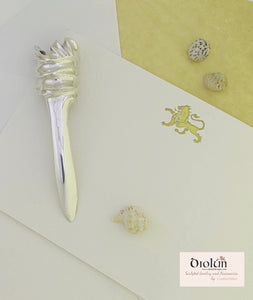 "Objects ~ Sculpted ""Torch"" Letter Opener in Sterling Silver"