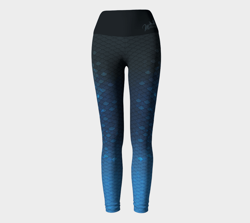 Mermaid Leggings Blue - MUKA