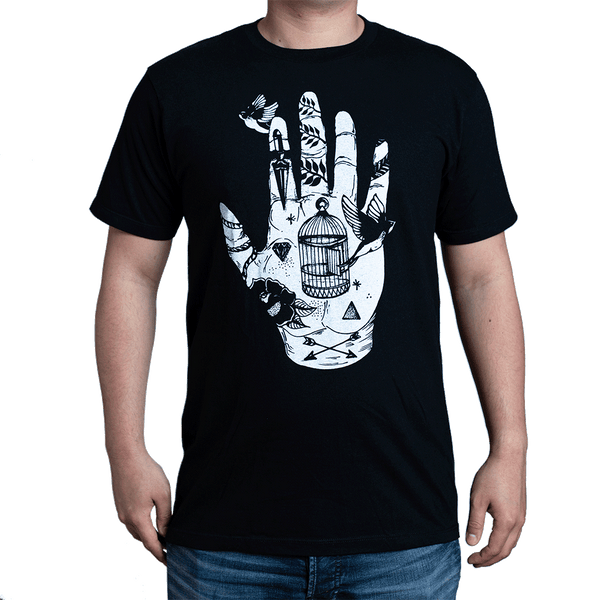 Tattoo Hand Monochrome T-Shirt