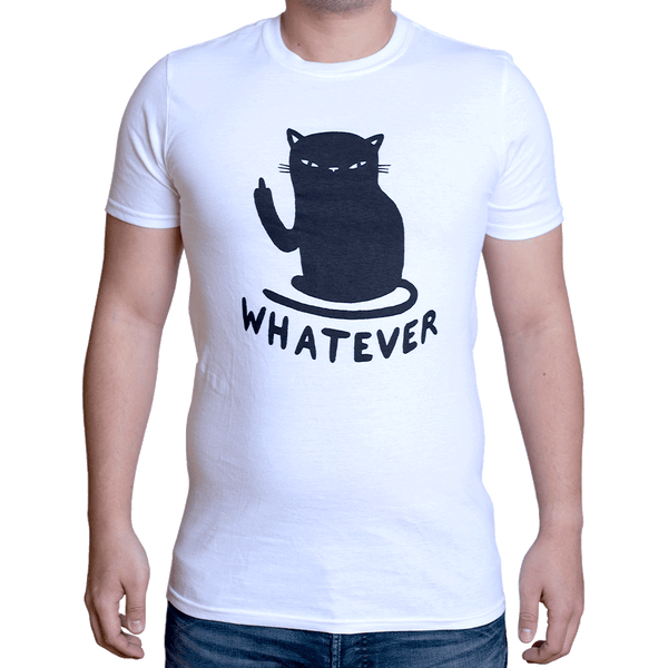 Whatever Cat T-Shirt White