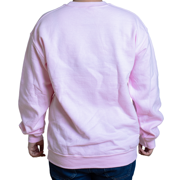 Too Tired To Care Sweater Pink