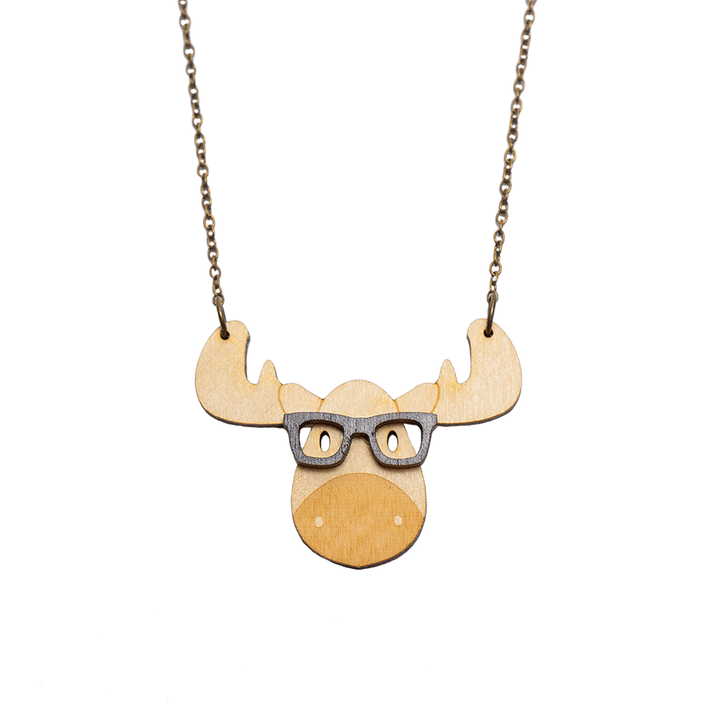 Smart Moose Necklace