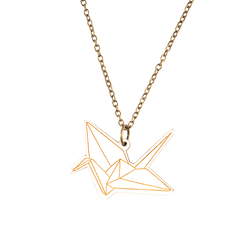 Paper Crane Necklace - MUKA