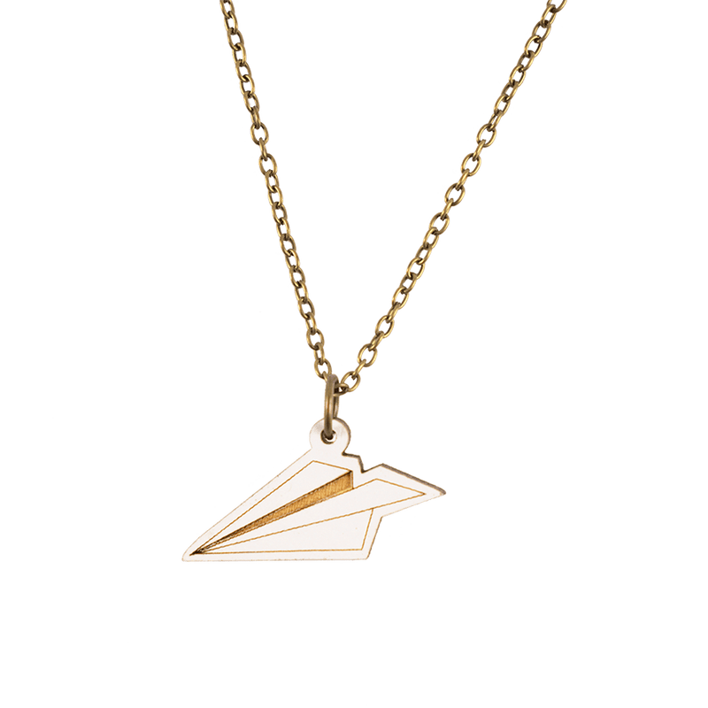 Paper Plane Necklace - MUKA