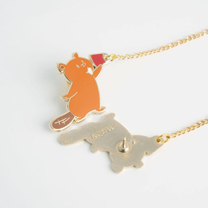 Beau and Lou Beavers, Jewelry, accessories, earrings, Enamel pins - MUKA