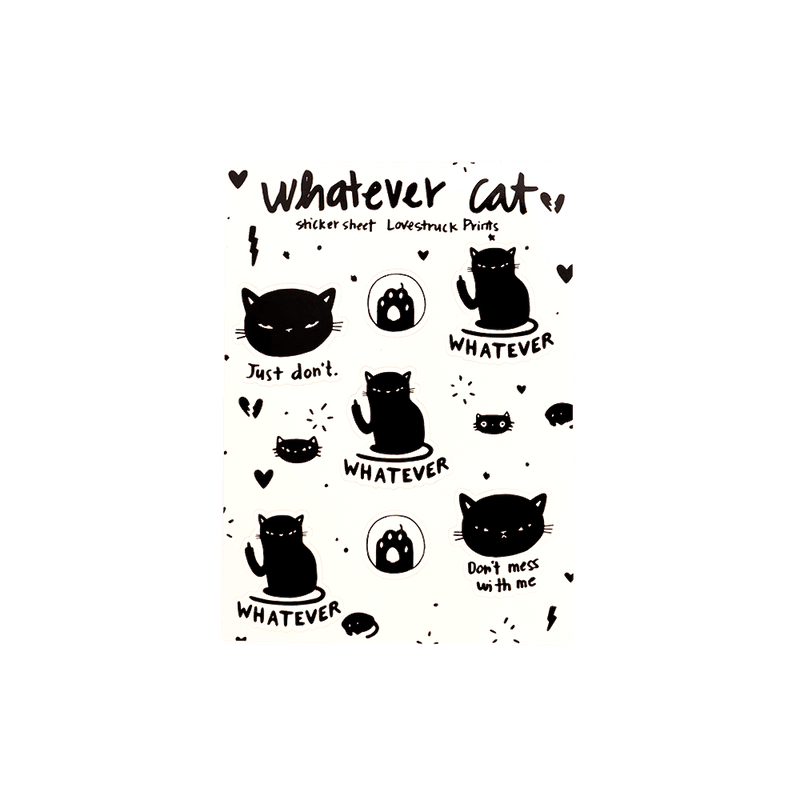 Whatever Cat Sticker Set - MUKA